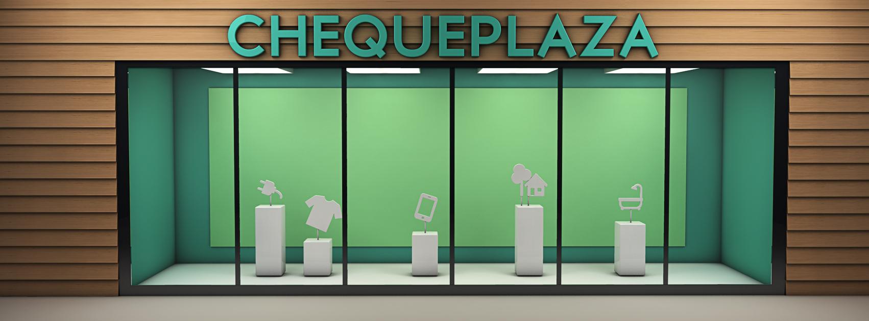 Chequeplaza 3D Etalage
