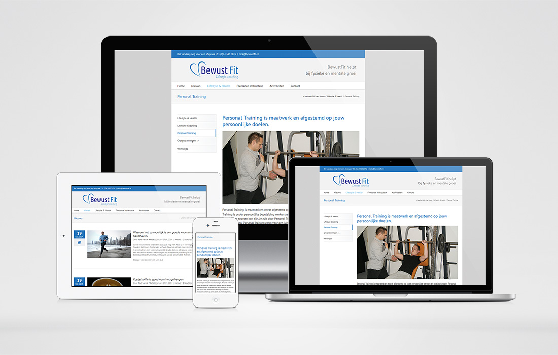 BewustFit Website 2015