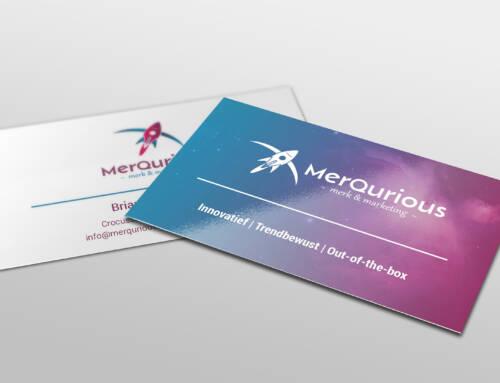 Visitekaartjes voor Merqurious Merk & Marketing
